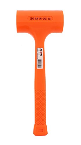 ABN Dead Blow Hammer, 4 lb Pound – Unicast Mallet with Non-Marring Rubber Coating