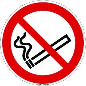 Rauchen verboten-Symbol-Schild 200 x 200 (rot)