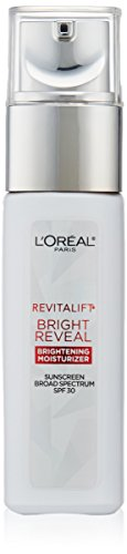 LOreal Paris Skincare Revitalift Bright Reveal Anti-Aging Day Cream SPF 30 Sunscreen with Glycolic Acid, Vitamin C & Pro-Retinol to Reduce Wrinkles & Brighten Skin, 1 fl. oz.