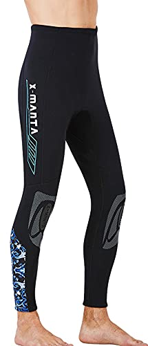 E-Qianw Pantalones De Traje De Neopreno para Hombres, Pantalones Largos De Neopreno De 3 mm para Surfear Kayak De Kayak De Canoa De Buceo,Negro,XXL