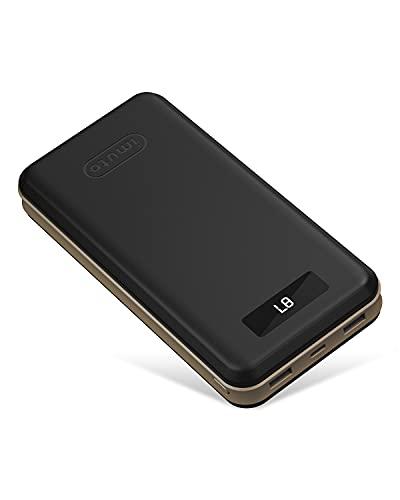 imuto Cargador portátil de 27000 mAh USB C PD, carga rápida de 18 W, cargador portátil con 3 salidas de batería externa compatible con iPhone 12, Samsung S20/S10, iPad Pro Huawei y más