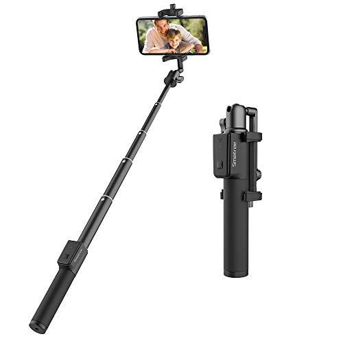 Smatree Selfie Stick mit Bluetooth-Fernauslöser 360° Rotation Extendible Pocket Stange für Samsung Galaxy S10/S10+/S9/S8, iPhone XS Max/XS/XR/X 8 und Smartphones mit der Breite Max zu 90mm