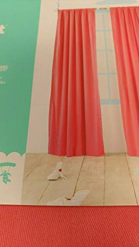 "Pillowfort Twill Light Blocking Curtain Panel (84"" x 42"", Pink)"