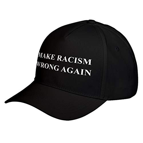 Hat Make Racism Wrong Again Black Adjustable Unisex Baseball Cap