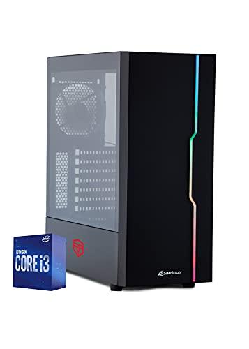 BREUNOR NEW HORIZONS - PC Desktop Intel i3 10100,SSD NVMe 250 GB fino a 2.400 mb/sec, HDD 1TB, SCHEDA VIDEO GTX 1650 4Gb,RAM 16GB, WIFI INTEGRATO, PC GAMING