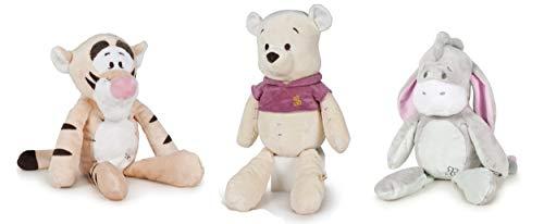 """Dsney Winnie The Pooh - Pack 3 Peluches el Oso Winnie + el Tigre Tigger + el Burro Igor Colección Baby 11""""/28cm Calidad Super Soft"""
