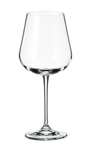 Crystalite Bohemia - Lead Free Crystal Wine Glasses Amundsen Stemware Collection, Set of 6 (Red Wine Glass 18oz. (540ml))