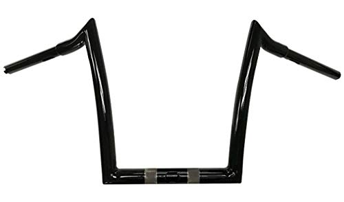 Dominator Industries 10' Meathook Monkey Bars Ape Hangers Compatible With 2015-2020 Harley Road Glide & Special Gloss Black
