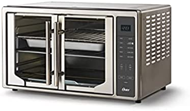 Oster Air Fryer Countertop Toaster Oven   French Door and Digital Controls   Stainless Steel, Extra Large