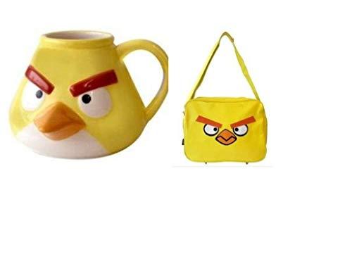 Angry Birds Yellow Messenger Bag & 3D Mug - Gift s