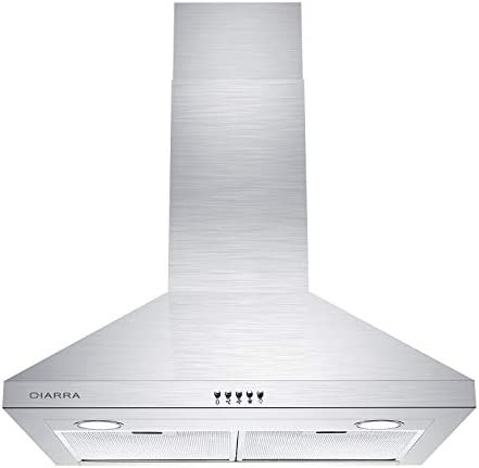 CIARRA CAS75206P 30 inch Range Hood Wall Mounted Stove Hood Vent Stainless Steel Kitchen Extractor product image