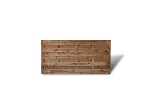 Günstiger Sichtschutzzaun / Gartenzaun Maße 180 x 90 cm (Breite x Höhe) aus Kiefer/Fichte Holz, druckimprägniert