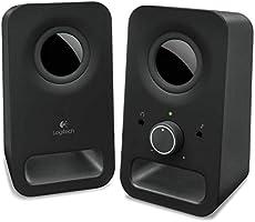 Logitech Z150 Compact Multimedia Stereo Speakers, 3.5mm Audio Input, Integrated Controls, Headphone Jack,...