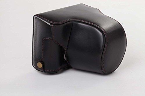 vhbw Funda de cámara Negra para cámara Olympus Pen-F cámara Evil.