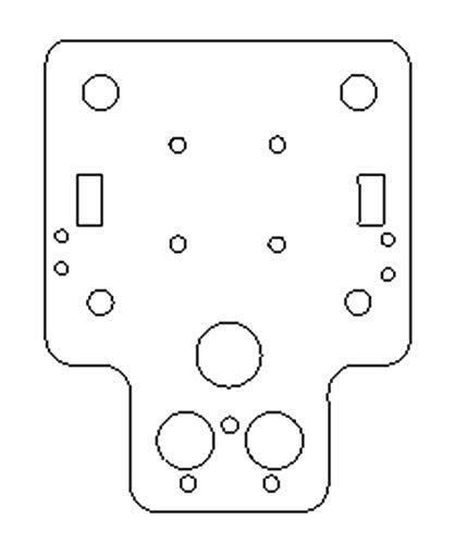 XBaofu 1pc HE3D/Tarantula I3 Aluminum Alloy X Axis Carriage Plate MGN12H Upgrade For HE3D EI3/Tarantula I3 3d Printer 3MM Thickness (Size : Dual version)