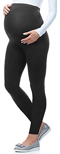 Be Mammy Lange Umstandsleggings aus Viskose BE-02 (Graphite, XL)