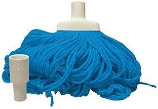 Livingstone Cotton Mop Head, Screw Type, 350g, Blue, Each