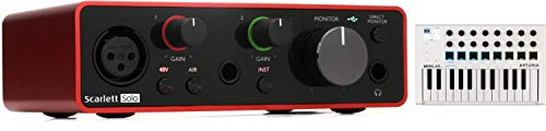 Arturia MiniLab MkII 25 Slim-key Controller + Focusrite Scarlett Solo 3rd Gen USB Audio Interface Value Bundle