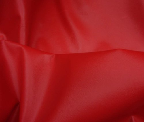 Red 2 Way Stretch Upholstery Faux Leather Vinyl Fabric Per Yard
