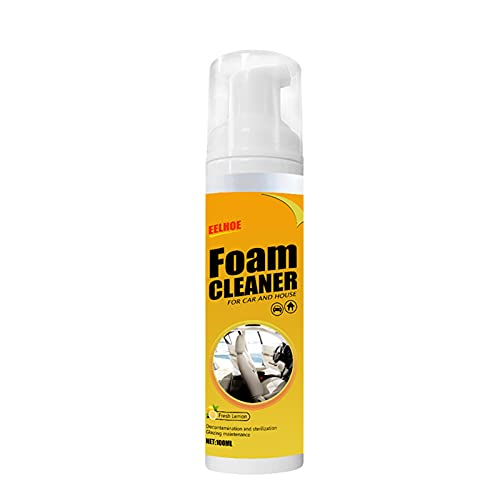 Tieguo Limpiador de espuma de cuero para coche de 100 ml con sabor a limón multi-uso fácil operación fácil de quitar portátil de larga duración para el coche