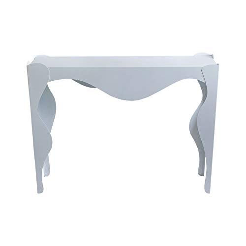 Arti & Mestieri Isotta - Consolle da Ingresso Stile Ricercato di Design 100% Made in Italy - in Ferro, 110 x 35 x 80 - Bianco Neve