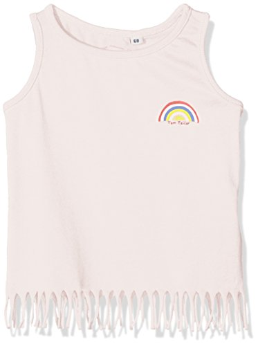 TOM TAILOR GmbH TOM TAILOR Kids Baby-Mädchen Tanktop with Fringe and Badge Top, Rosa (Quiet pink 5711), 74