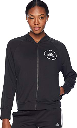 adidas Damen Athletics Sport Id Bomber, Damen, Bomberjacke, Athletics Sport Id Bomber, schwarz, Large