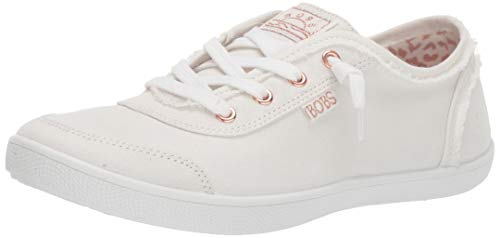 Skechers Bobs B Cute, Zapatillas Mujer, Blanco (White Canvas Wht), 38 EU