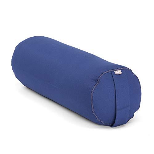 Bodhi Yoga Bolster ECO | 100% Bio-Baumwolle | Yogarolle mit Bio Dinkelfüllung |...