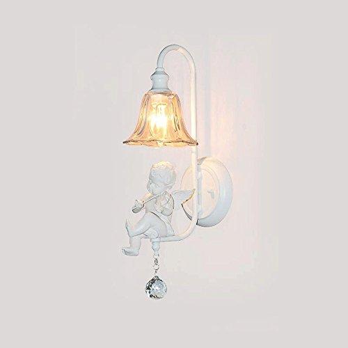 Nordic modern, minimalistisch enkele kop viool engel/enkele kop weinig engel/dubbele kop viool engel wandlamp Europese creatieve woonkamer slaapkamer LED engel wandlamp