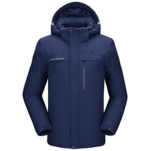 31Pevba9xyL. SS500  - CAMEL CROWN Men's Mountain Snow Waterproof Ski Jacket Detachable Hood Windproof Fleece Parka Rain Jacket Winter Coat