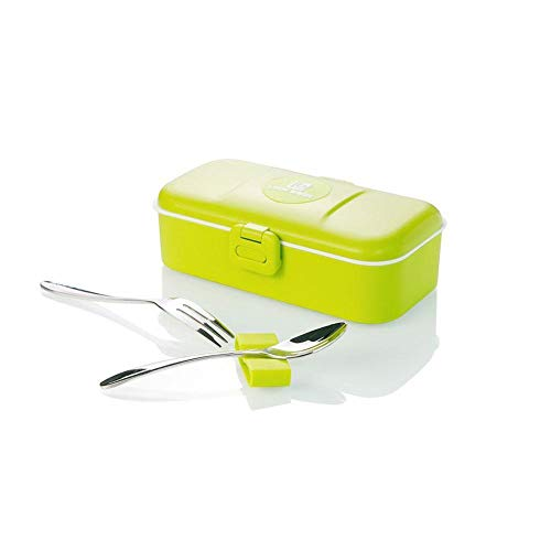 haiyan1 Bento Box Tragbare Einlagige Auslaufsichere Lunchbox Picknickbesteck Aufbewahrungsbox Mit Besteck @