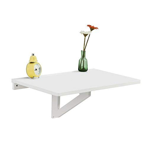 SoBuy Folding Wall-mounted Drop-leaf Table, Computer Desk Children Table Desk, Kitchen Dining Table, 60x40cm, FWT03-W, White