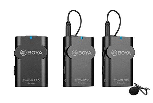 Boya - Micrófono Duo Lavalier (2,4 GHz, inalámbrico)