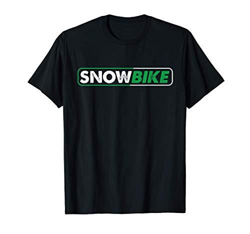 Snowbike Wintersport Schnee Snowbiker Fahrrad Kufen Geschenk T-Shirt