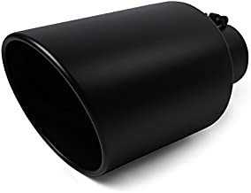 Angled Stainless Steel Black 18 inch Bolt On Exhaust Tip 4 In 8 Out 208772 Universal Diesel Truck
