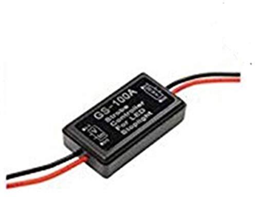 XIAOYAFANG Hxfang GS-100A Flash estroboscópico Controlador Intermitente Módulo for el Coche Freno LED lámpara de Parada del Alambre 12V Ahora Caliente