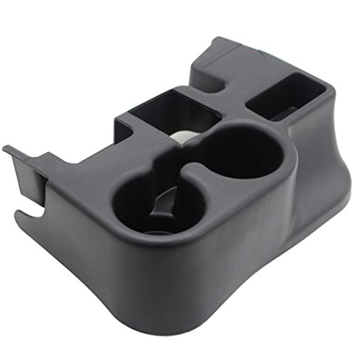 Ezzy Auto Black Center Console Tray Box Cup Holder add-on Compatible with 2003-2012 Dodge Ram 1500 2500 3500 REPL SS281AZAA