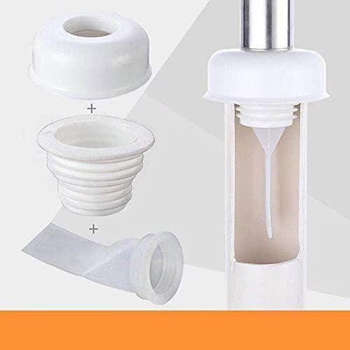 Desodorante de tubería de drenaje de silicona Máquina de lavado Herramientas de conector de tubería Tapón de sellado Trampa Anti-olor Accesorios de tubería de alcantarillado telescópico-3Pcs, ESPAÑA