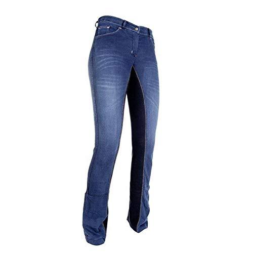 HKM Unisex Jodhpur -Summer Denim-6169 Jeansblau/Dunkelblau34 Reithose, Jeansblau/Dunkelblau, 42 EU