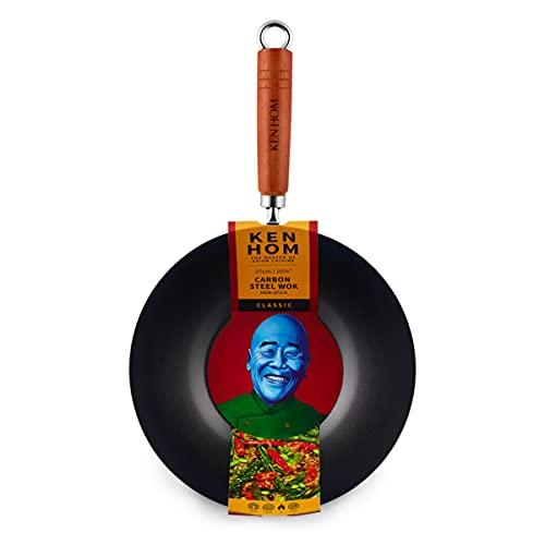 Ken Hom WKH327001 KH327001-Ovillo de Lana, Color negro, Acero al Carbono, 27 cm