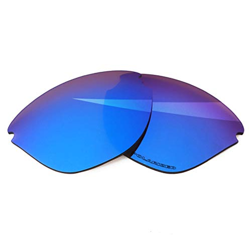 BlazerBuck Lentes de repuesto polarizadas antisal para gafas de sol Oakley Frogskins Lite OO9374, Azul Hielo Polarizado, 0