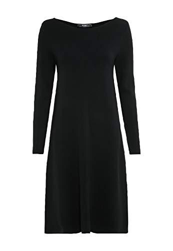 HALLHUBER Strickkleid aus Lenzing™-EcoVero™ ausgestellter Schnitt schwarz, M