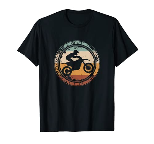Dirt Bike Motocross Enduro Motocicleta Vintage Camiseta