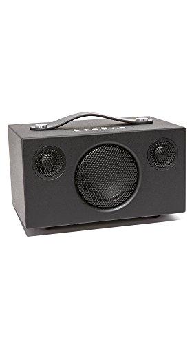 Kabelloser Lautsprecher | Tragbarer Multiroom Lautsprecher | Multiroom | WiFi | Bluetooth Speaker | WLAN | Apple Air Play | Spotify Connect | Addon T3+ | Schwarz