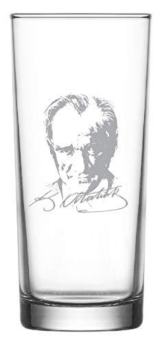aina Raki Gläser mit Gravur Glas Bardagi Bardak Rakigläser 2 Stück Türkiye Türkei Atatürk imza