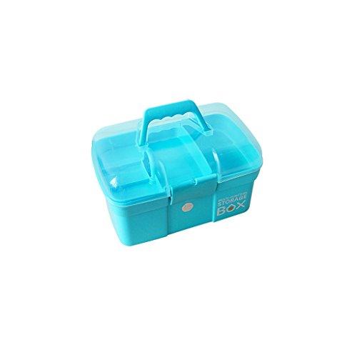 RENJUN Haushalt große Medizin Box medizinische Medizin Box Familie medizinische Box Kind Baby Medizin Box mehrschichtige Medizin aufbewahrungsbox 31x20x20 cm Erste-Hilfe-Kasten (Color : Blue)