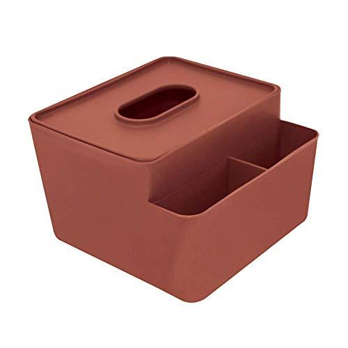 COLiJOL Caja de Pañuelos con Soporte de Papel Organizador de Alenamiento de Servilletas Rojas Caja de Pañuelos de Plástico Adecuada para Encimeras de Dormitorio