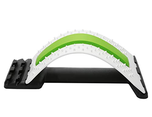 ChiFit Lumbar Back Pain Relief Device, Lumbar Back Stretcher, for Lower and Upper Back Massager and Support (Green) …