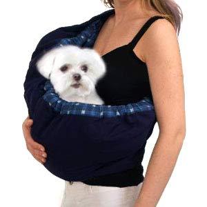 OrgMemory Hunde Tragetaschen, Tragetasche Katzen, Hundetragetasche Outdoor Tragetasche Hund (Blau Plaid)